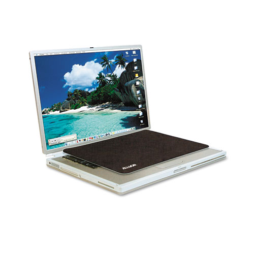 Travel Notebook Optical Mouse Pad, Nonskid Back, 11 x 7 1/4, Black | by Plexsupply