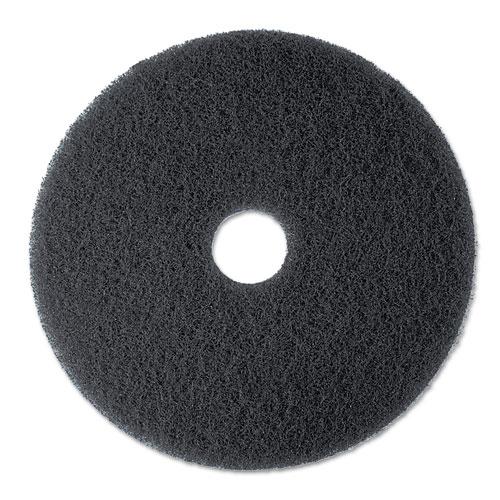 "3M™ High Productivity Floor Pad 7300, 20"" Diameter, Black, 5/Carton"