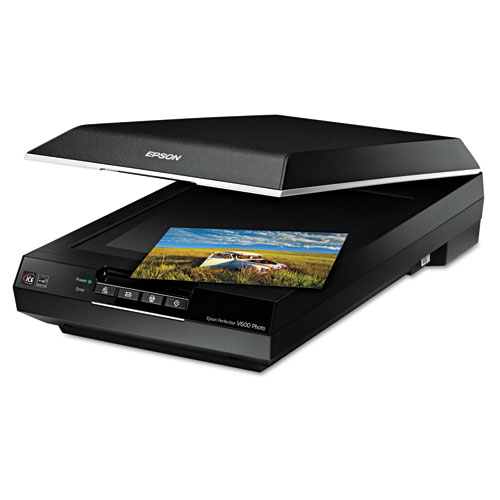 Perfection V600 Photo Color Scanner, Scans Up to 8.5 x 11.7, 6400 dpi Optical Resolution