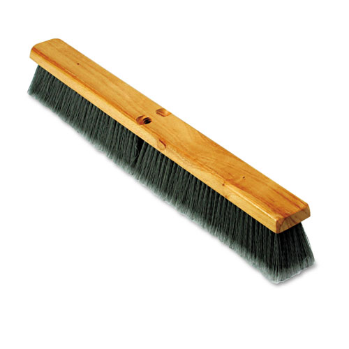 "Floor Brush Head, 3"" Gray Flagged Polypropylene, 24"" 