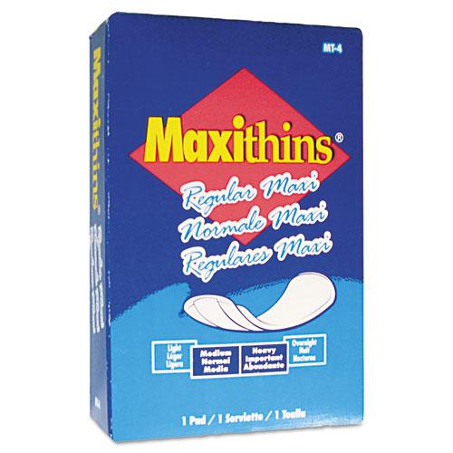 Maxithins Vended Sanitary Napkins, 100/Carton