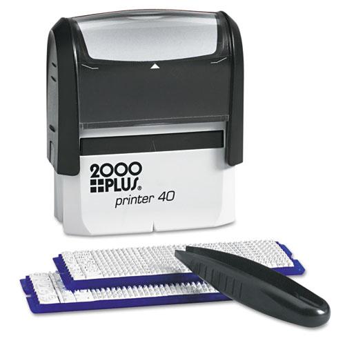 DIY Custom Stamp Kit with Microban, 5 Lines, Black, 2 5/16 x 7/8