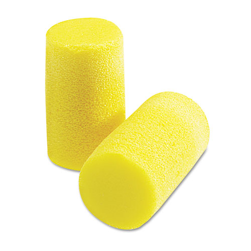 EAR Classic Plus Earplugs, PVC Foam, Yellow, 200 Pairs