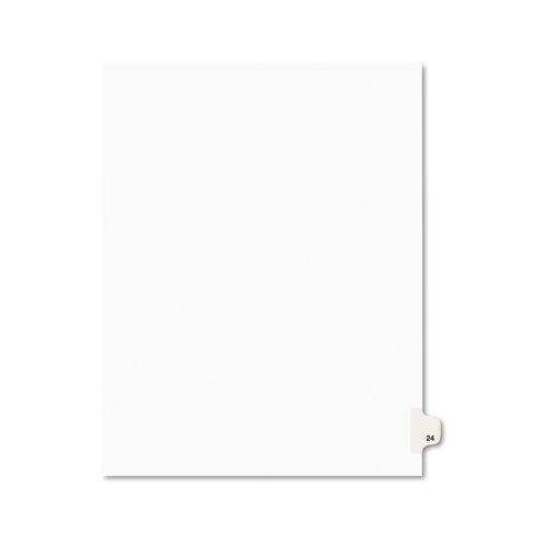 Preprinted Legal Exhibit Side Tab Index Dividers, Avery Style, 10-Tab, 24, 11 x 8.5, White, 25/Pack