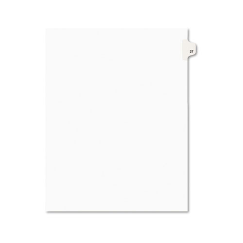 Preprinted Legal Exhibit Side Tab Index Dividers, Avery Style, 10-Tab, 27, 11 x 8.5, White, 25/Pack