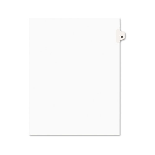 Preprinted Legal Exhibit Side Tab Index Dividers, Avery Style, 10-Tab, 28, 11 x 8.5, White, 25/Pack