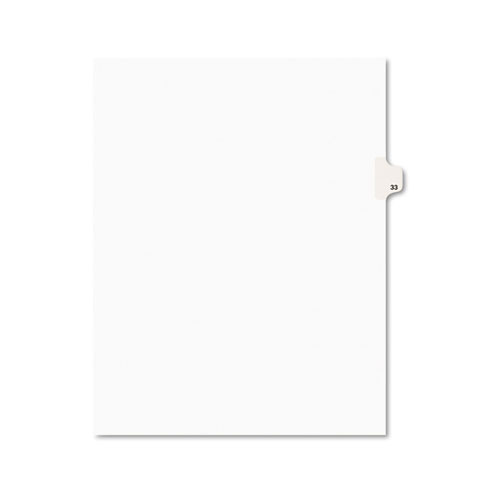 Preprinted Legal Exhibit Side Tab Index Dividers, Avery Style, 10-Tab, 33, 11 x 8.5, White, 25/Pack