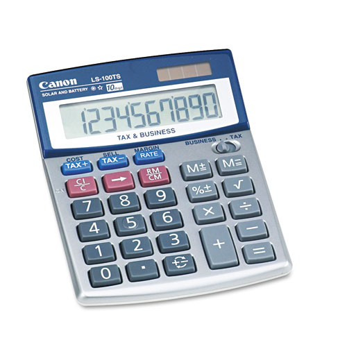 Canon® LS-100TS Portable Business Calculator, 10-Digit LCD