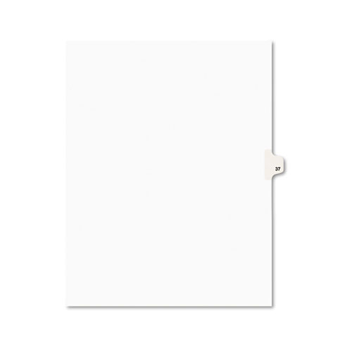 Preprinted Legal Exhibit Side Tab Index Dividers, Avery Style, 10-Tab, 37, 11 x 8.5, White, 25/Pack