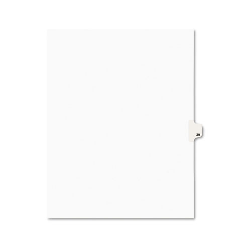 Preprinted Legal Exhibit Side Tab Index Dividers, Avery Style, 10-Tab, 39, 11 x 8.5, White, 25/Pack