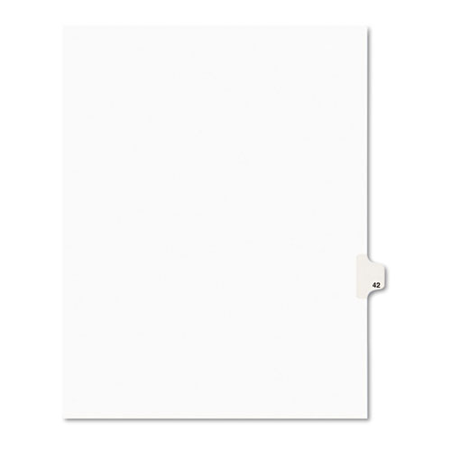 Preprinted Legal Exhibit Side Tab Index Dividers, Avery Style, 10-Tab, 42, 11 x 8.5, White, 25/Pack