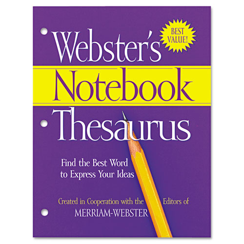 Notebook Thesaurus, Three-Hole Punched, Paperback, 80 Pages | by Plexsupply