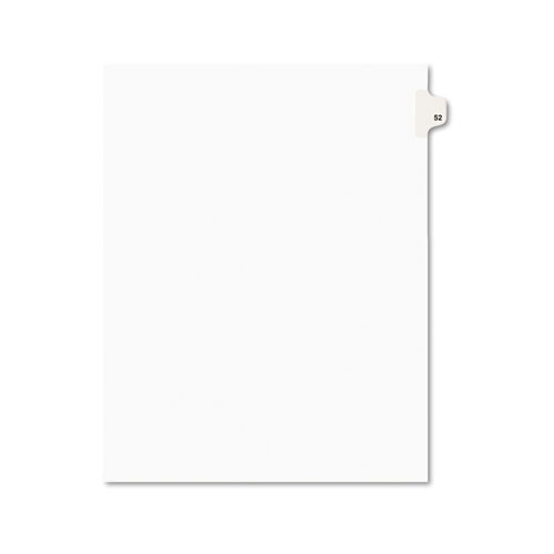 Preprinted Legal Exhibit Side Tab Index Dividers, Avery Style, 10-Tab, 52, 11 x 8.5, White, 25/Pack | by Plexsupply