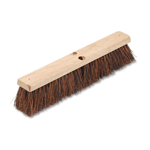 "Floor Brush Head, 3 1/4"" Natural Palmyra Fiber, 18"" 