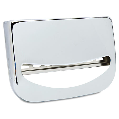 Toilet Seat Cover Dispenser, 16 x 3 x 11 1/2, Chrome | by Plexsupply