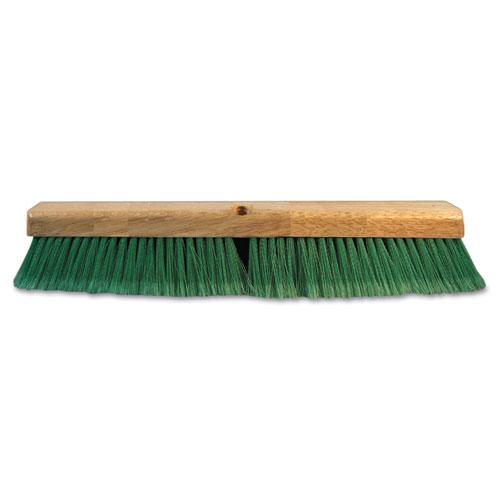 Push Broom Head, 3 Green Flagged Recycled PET Plastic, 24