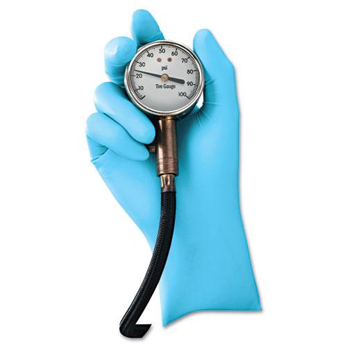 G10 Blue Nitrile Gloves, Powder-Free, Blue,242 mm Length,  Large, 100/Box | by Plexsupply