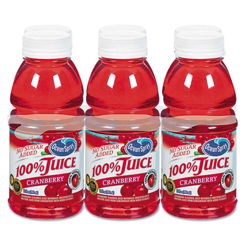 100 Juice, Cranberry, 10oz Bottle, 6/Pack