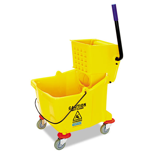 Side-Press Bucket/Wringer Combo, 8.75 gal, Yellow