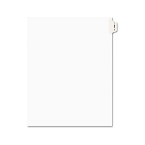Avery-Style Preprinted Legal Side Tab Divider, Exhibit U, Letter, White, 25/Pack | by Plexsupply