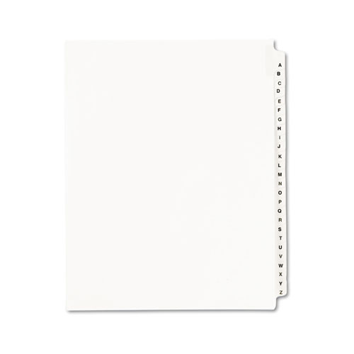 Preprinted Legal Exhibit Side Tab Index Dividers, Avery Style, 26-Tab, A to Z, 11 x 8.5, White, 1 Set | by Plexsupply