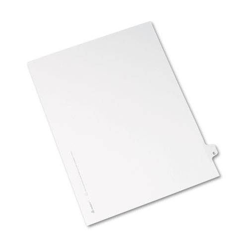avery style legal exhibit side tab dividers 1 tab title c ltr white 25pk