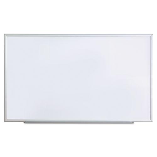 Dry Erase Board, Melamine, 60 x 36, Satin-Finished Aluminum Frame | by Plexsupply