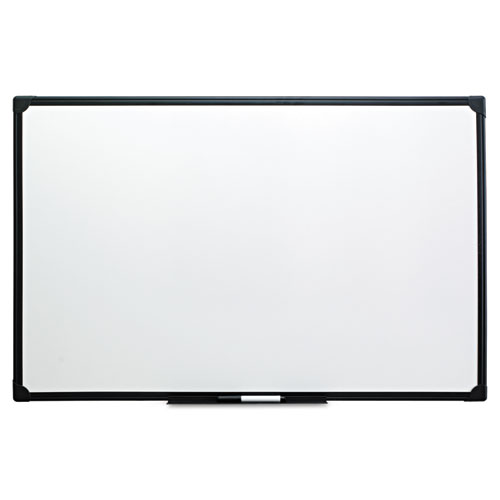 Dry Erase Board, Melamine, 48 x 36, Black Frame | by Plexsupply