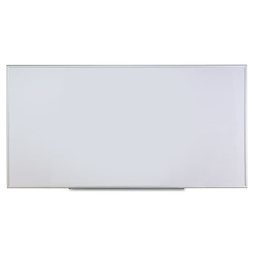 Dry Erase Board, Melamine, 96 x 48, Satin-Finished Aluminum Frame | by Plexsupply