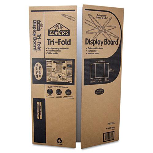 Elmeru0026#39;su00ae Single Ply Corrugated Display Board, 24 x 36, White, 25 ...