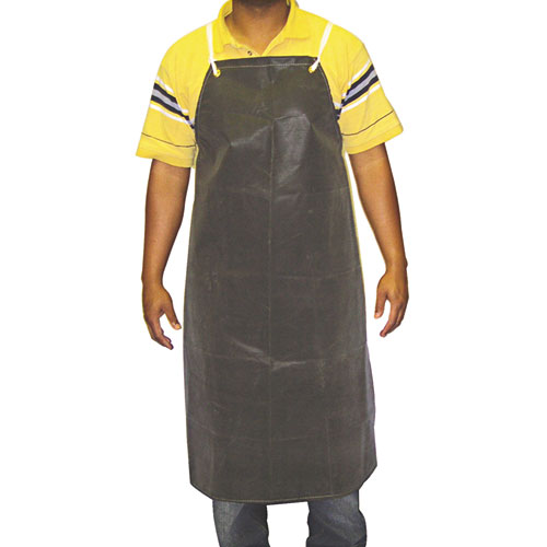 Hycar Bib Apron with Cloth Backing, 24 in. x 36 in., Black, One Size Fits All