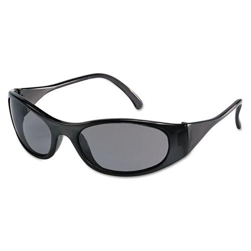 MCR™ Safety Frostbite2 Safety Glasses, Frost Black Frame, Squared Gray Lens