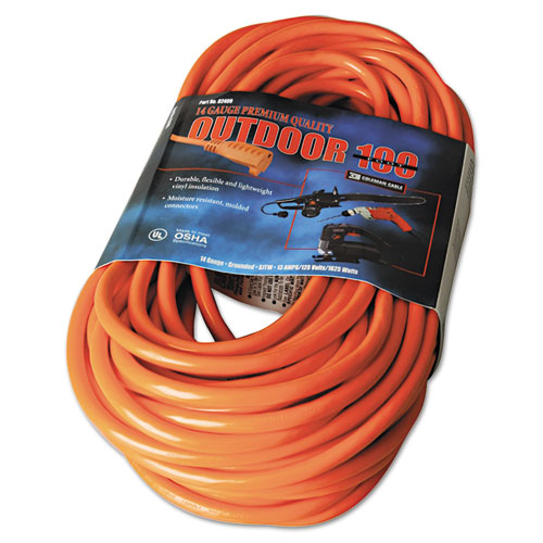 CCI® Vinyl Outdoor Extension Cord, 10ft, 13 Amp, Orange