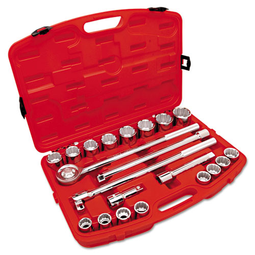 """Crescent® 21-Piece Mechanic's Tool Set, SAE, 3/4"""" Drive, 7/8"""" to 2"""", 12-Point Sockets"""