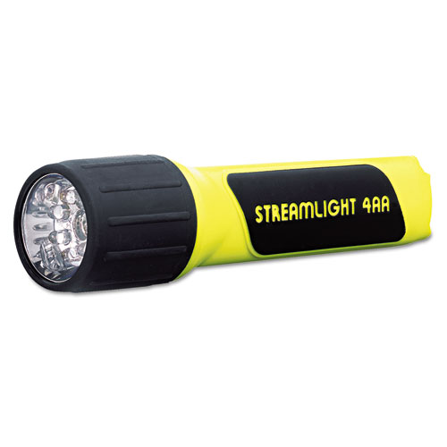 ProPolymer LED Flashlight, 4 AA Batteries (Included), Yellow/Black | by Plexsupply
