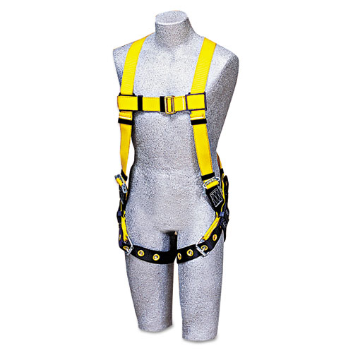 DBI-SALA® Full-Body Harness, Tongue Buckles, Side/Back D-Rings, Large, 420lb Capacity