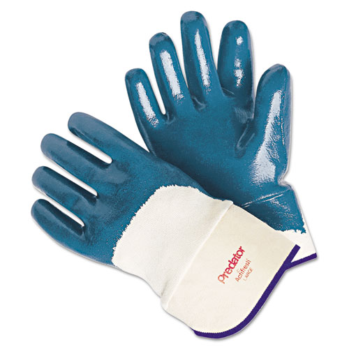 Predator Nitrile Gloves, Blue/White, Large, 12 Pairs