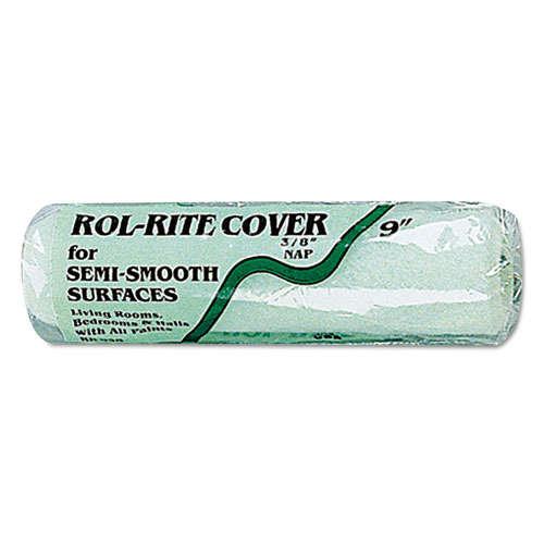 """Linzer® Semi-Smooth Paint Roller Cover, 3/8"""" Nap, 3"""", Green"""