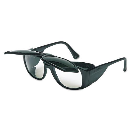 Horizon Flip-Up Safety Glasses, Black Frame, Clear/Shade 5.0 Lenses S213