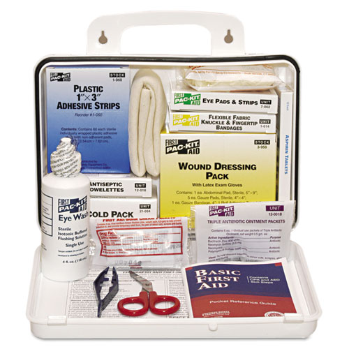 ANSI Plus 25 Weatherproof First Aid Kit, 143-Pieces, Plastic Case