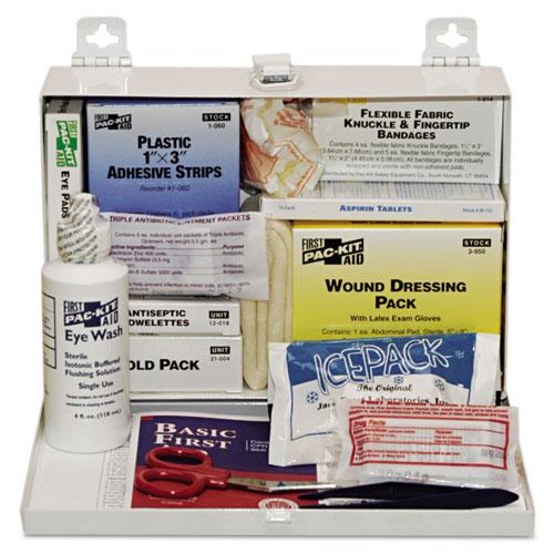 25-Person Steel First-Aid Kit, w/Eyewash | by Plexsupply