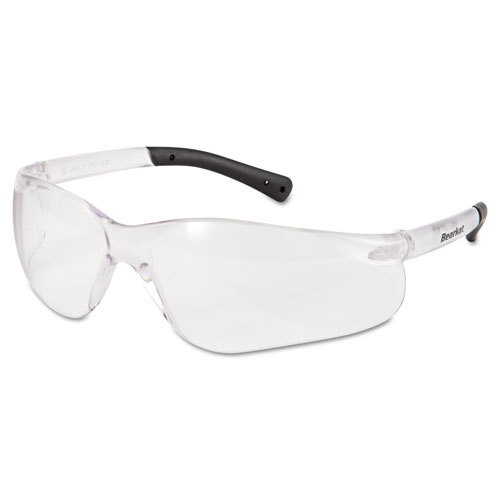 BearKat Safety Glasses, Frost Frame, Clear Lens | by Plexsupply