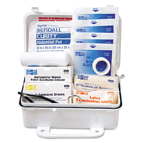 ANSI #10 Weatherproof First Aid Kit, 57-Pieces, Plastic Case | by Plexsupply
