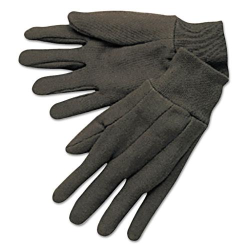 Jerseys General Purpose Gloves, Brown, Large, 12 Pairs 7100