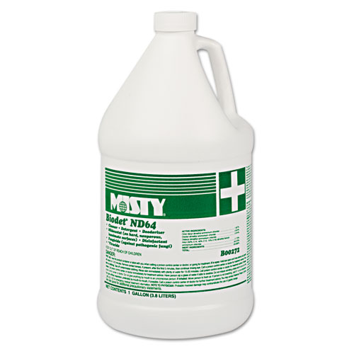 Misty® BIODET ND-64, Lemon, 1gal Bottle, 4/Carton