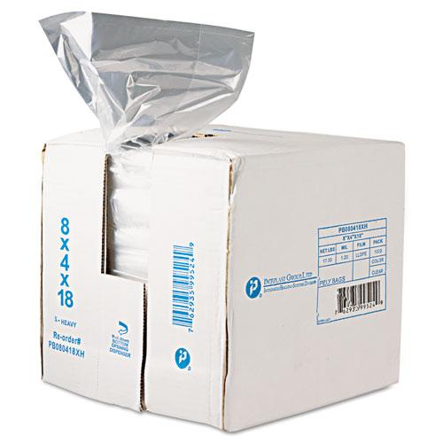 Food Bags, 8 qt, 0.68 mil, 8 x 18, Clear, 1,000/Carton