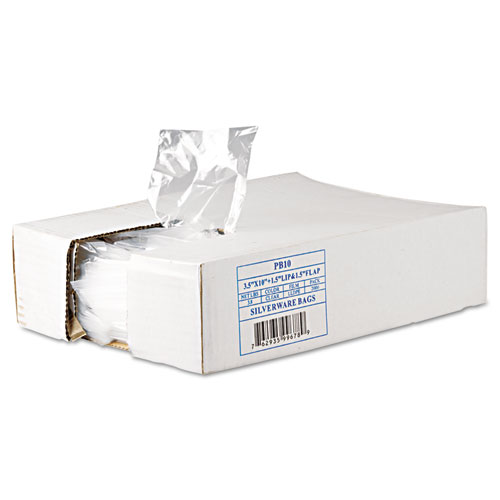 Silverware Bags, 0.7 mil, 3.5 x 1.5, Clear, 2,000/Carton