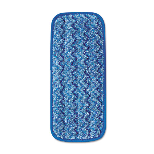 Microfiber Wall/Stair Wet Mopping Pad, Blue, 13 3/4w x 5 1/2d x 1/2h | by Plexsupply