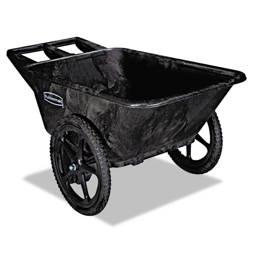 Big Wheel Agriculture Cart, 300-lb Capacity, 32.75w x 58d x 28.25h, Black | by Plexsupply