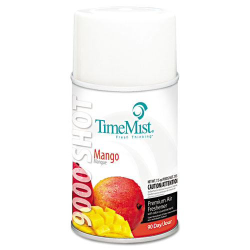 9000 Shot Metered Air Fresheners Refill, Mango, 7.5 oz Aerosol, 4/Carton